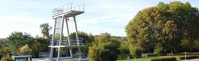 Der Sprungturm im Volksbad ist Denkmal des Monats Juni 2021: Ein Sprung ins kühle Nass ist bald wieder möglich