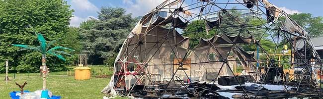 """Durch Brand im """"Weltgarten 2021"""" kann die Ausstellung im Westfalenpark Dortmund noch nicht besucht werden"""