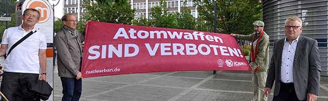 Bürgermeister*innen für den Frieden: Auch Dortmund zeigt erneut Flagge gegen Atomwaffen und eine friedlich(er)e Welt