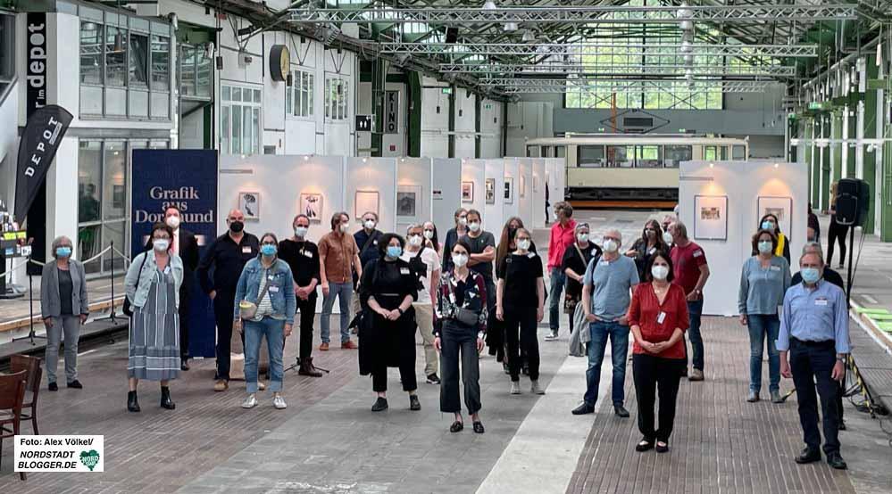 """Die Ausstellung """"Grafik in Dortmund"""" ist ab sofort im Kulturort Depot zu sehen. Fotos: Alex Völkel"""