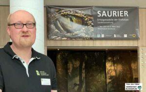 Dr. Jan-Michael Ilger Kurator der Saurier-Ausstellung. Foto: Alex Völkel