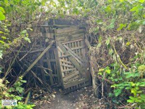 Einbruchschutz: Statt akkurater Hecken sind die Wege von Dornbüschen gesäumt.