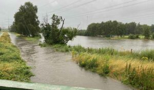 Alle Flüsse und Bäche traten über die Ufer. Foto: Feuerwehr