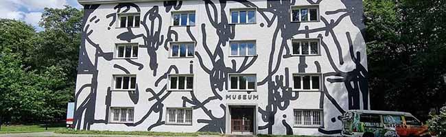 Urbane Kunst am Bunker im Westpark in Dortmund: Das ehemalige Museum wurde selbst zum Kunstwerk
