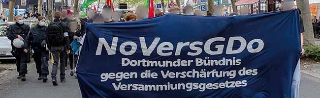 Die Demo gegen das geplante Versammlungsgesetz führte von der Nordstadt in die City. Foto: David Peters