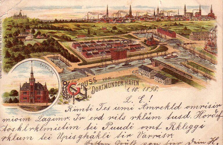 Kartengruß aus Dortmund 1898 (Sammlung Klaus Winter)