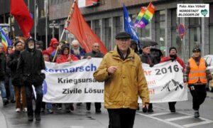 Willi Hoffmeister gehört seit Jahrzehnten zu den Organisatoren des Ostermarschs. Archivfoto: Alex Völkel