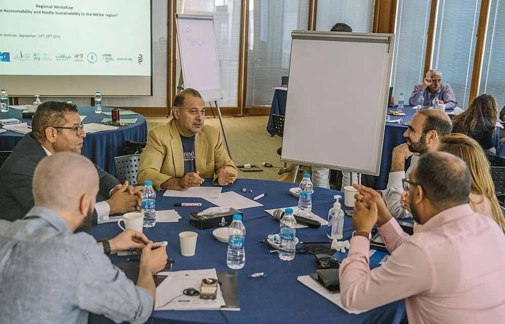 Im Mittelpunkt stand die Frage nach der Sicherung der Existenz unabhängiger Medien in den Ländern Nordafrikas und des mittleren Ostens durch finanzielle Nachhaltigkeit und langfristige Publikumsbindung durch Medienverantwortung.