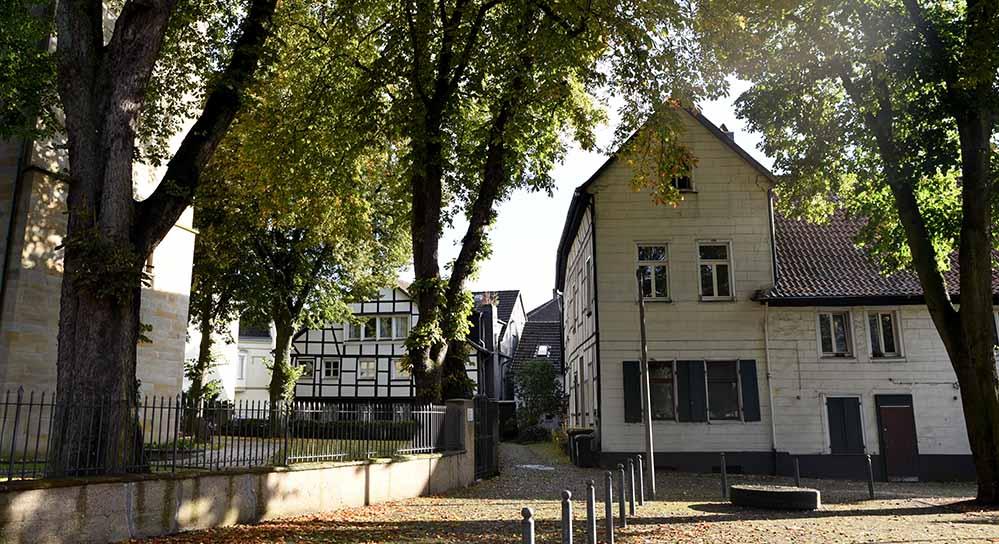 Das Heimathaus am Widum - Blick auf die östliche Fassade.
