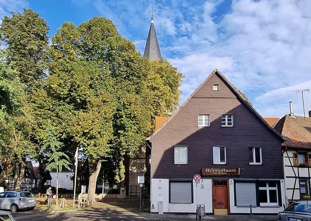 Das Heimathaus am Widum - Blick auf den westlichen Giebel.