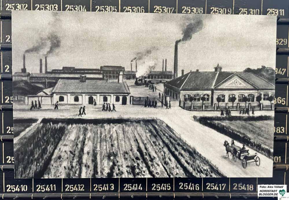 Bild des Eisen- und Stahlwerks Hoesch aus dem Jahr 1885 aus dem thyssenkrupp Archiv.