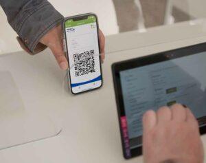 Mit einer speziellen App läuft der Check-Inn an der TU Dortmund.